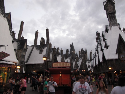 Hogsmeade at dusk