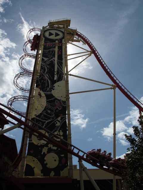 Hollywood Rip Ride Rockit coaster