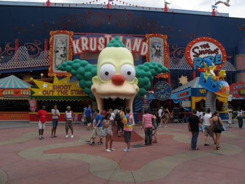 Krustyland for the Simpsons Ride