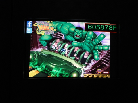 On the Hulk coaster