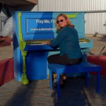 Britta playing a Salem Street Piano