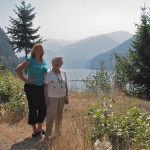 Britta & Grandma at Detroit Lake in Willamette National Forest