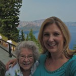 Grandma & Britta at the Crater Lake Lodge