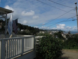 Goonies house view - attempting to duplicate the movie without a crane camera