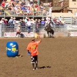 Rodeo Clown and Saddle Bucking