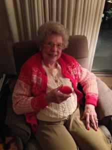 Grandma insisted I make us pomegranate martinis