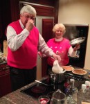 Dad making smelly lutefisk