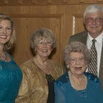 Hundred-Year Helen with daughter Diane, granddaughter Britta and son-in-law Gary