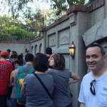 Ushered out of the Haunted Mansion through the secret exit!