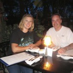 Dinner at the Blue Bayou inside the Pirates ride