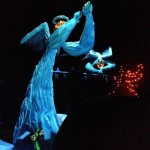 I've always loved the pumpkinhead ice angels inside Haunted Mansion Holiday!