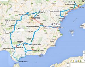 Spain 2016 Final Tour Map